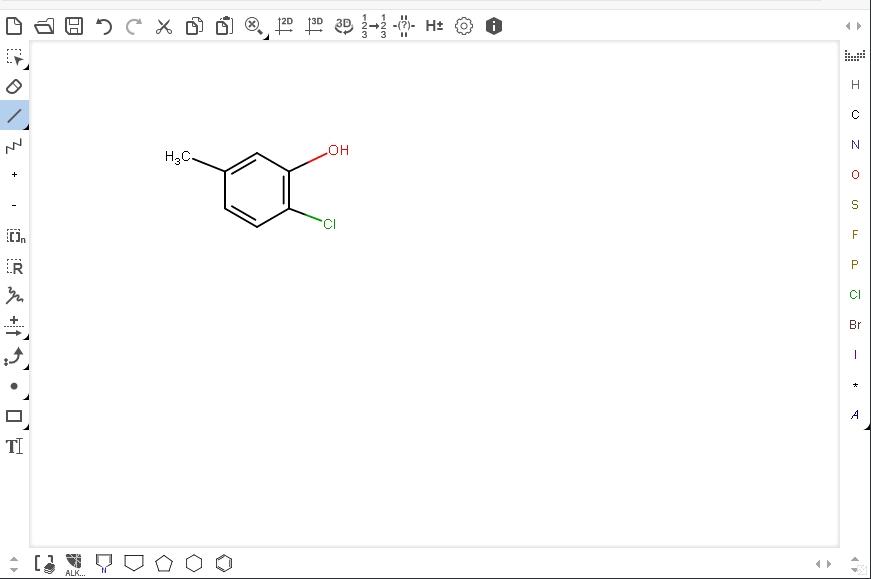 Створення структурної хімічної формули у Marvin JS